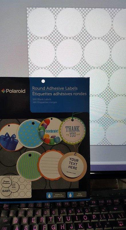 Round Adhesive Label Template Polaroid Polaroid Round Adhesive Labels Template 20 Per Sheet