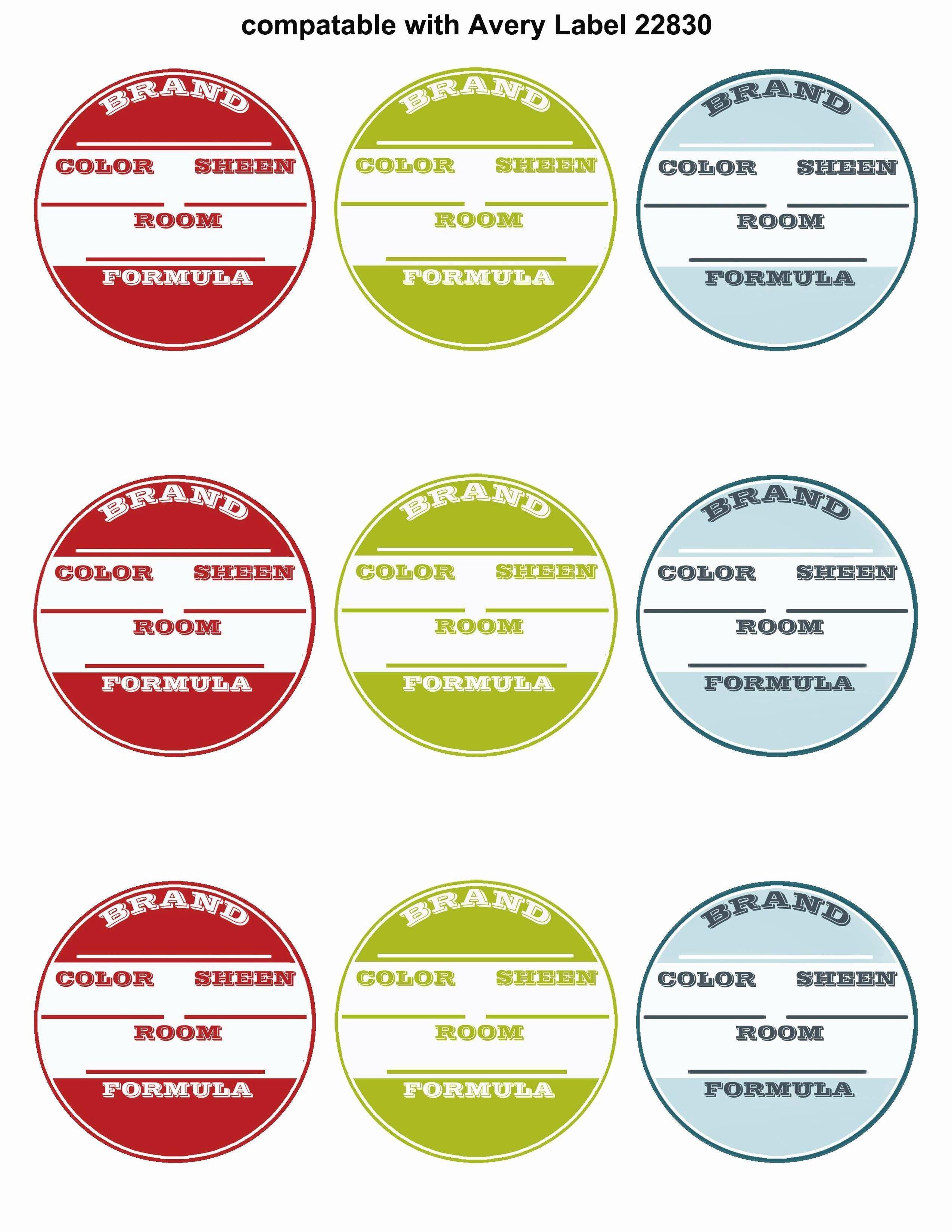 Round Adhesive Label Template Polaroid Polaroid Round Labels Template