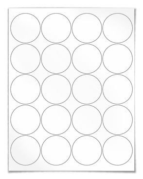 Round Adhesive Label Template Polaroid Round Labels Circle Labels Housekeeping