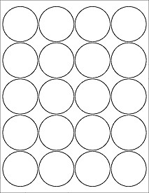 "Round Adhesive Label Template Polaroid Round Labels Circle Labels Ol5375 2"" Circle"