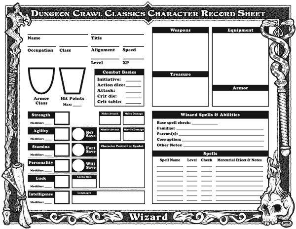 Rpg Character Sheet Template Downloadable Character Sheets Goodman Games