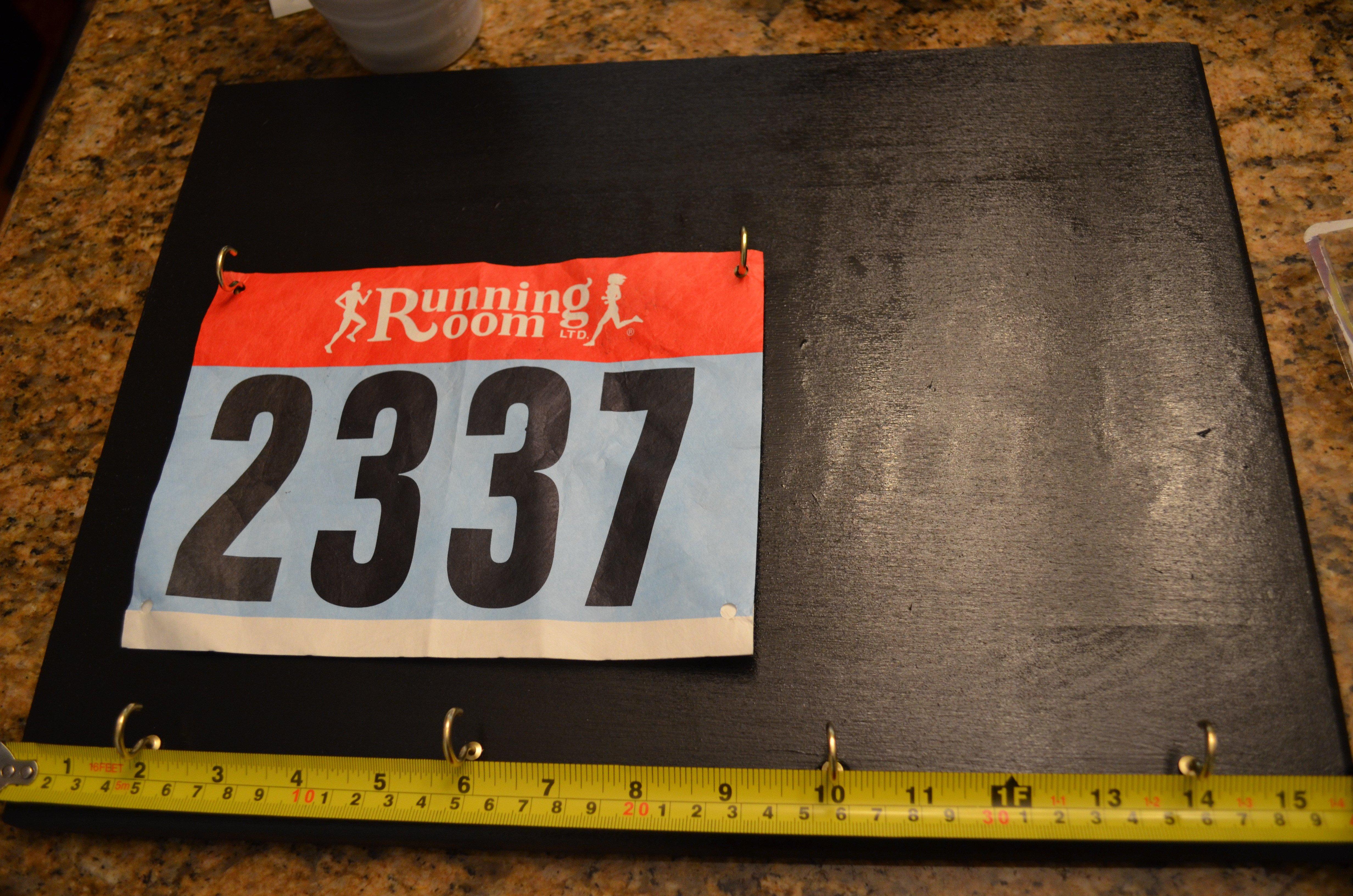 Running Bib Template Diy Race Bib Medal Display