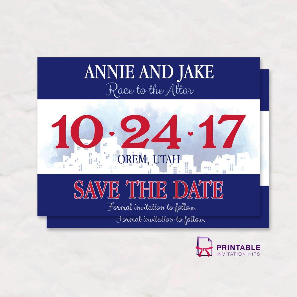 Running Bib Template Race Bib Save the Date Wedding Invitation ← Wedding