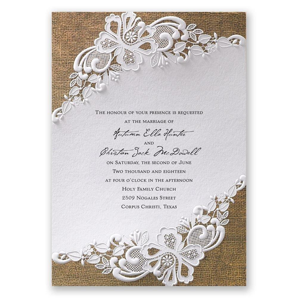 Lacy Dream Invitation Wedding Invitations