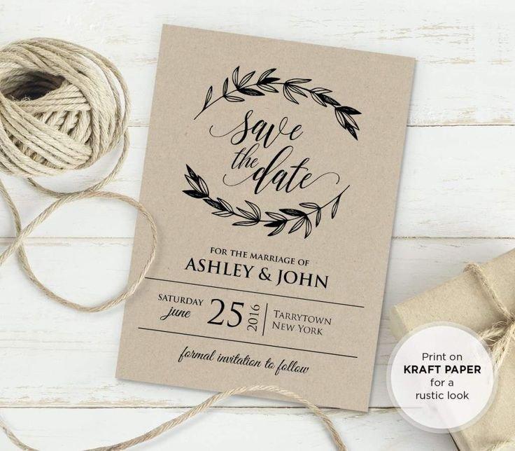Rustic Wedding Invites Templates 25 Best Ideas About Invitation Templates On Pinterest