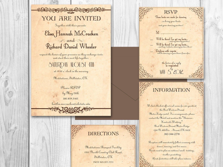 Rustic Wedding Invites Templates Rustic Wedding Invitations Printable by Designedwithamore