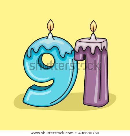Saint Candle Template 91 Birthday Stock Royalty Free & Vectors