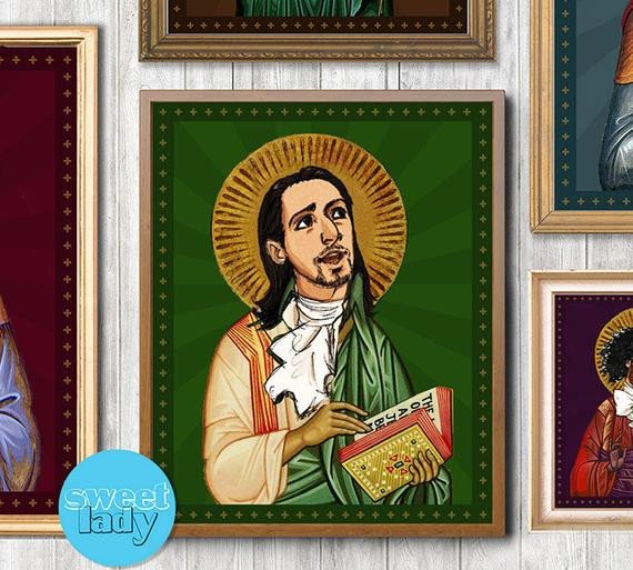 Saint Candle Template Instant Download Hamilton Prayer Print and by