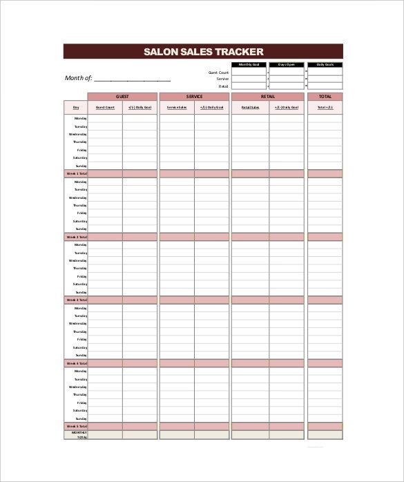 Sales Activity Tracking Spreadsheet 18 Tracking Templates Free Sample Example format