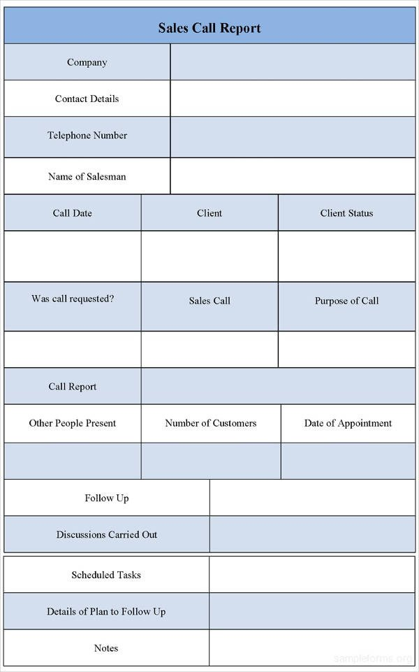 Sales Calls Report Template 9 Sales Call Report Examples Pdf Word Apple Pages