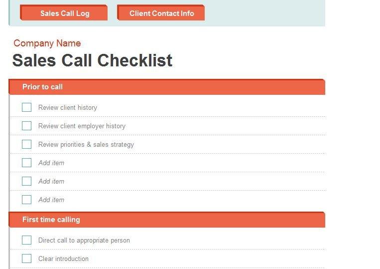 Sales Calls Report Template Mobilitymedia Blog