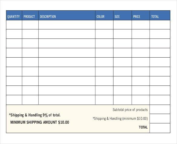 Sales order forms Templates 13 Sales order Templates Word Excel Google Docs