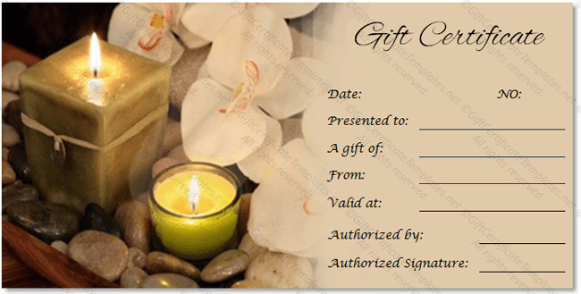 Salon Gift Certificate Templates Spa Gift Certificate Templates