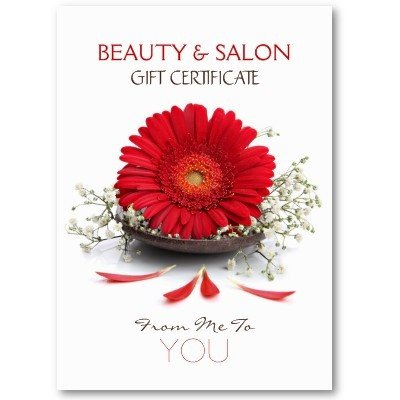 Salon Gift Certificates Templates Beauty Salon Gift Certificate Business Card Template by