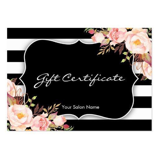 Salon Gift Certificates Templates Floral Salon Boutique Gift Certificate Template