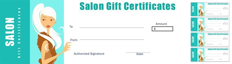 Salon Gift Certificates Templates Free Salon Gift Certificate Template for Nail Salon Hair