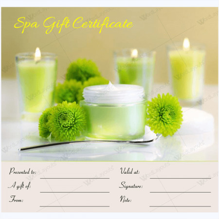 Salon Gift Certificates Templates Spa Gift Certificate Templates 100 Spa and Saloon Designs