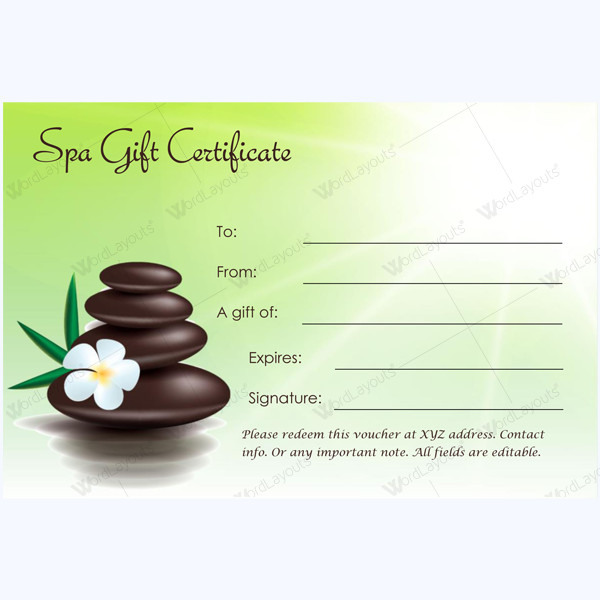 Salon Gift Certificates Templates This Spa T Certificate Template is Designed In