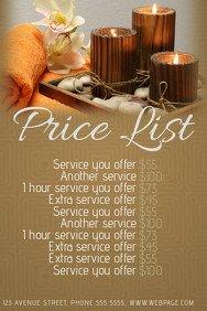 Salon Price List Template 490 Customizable Design Templates for Price List