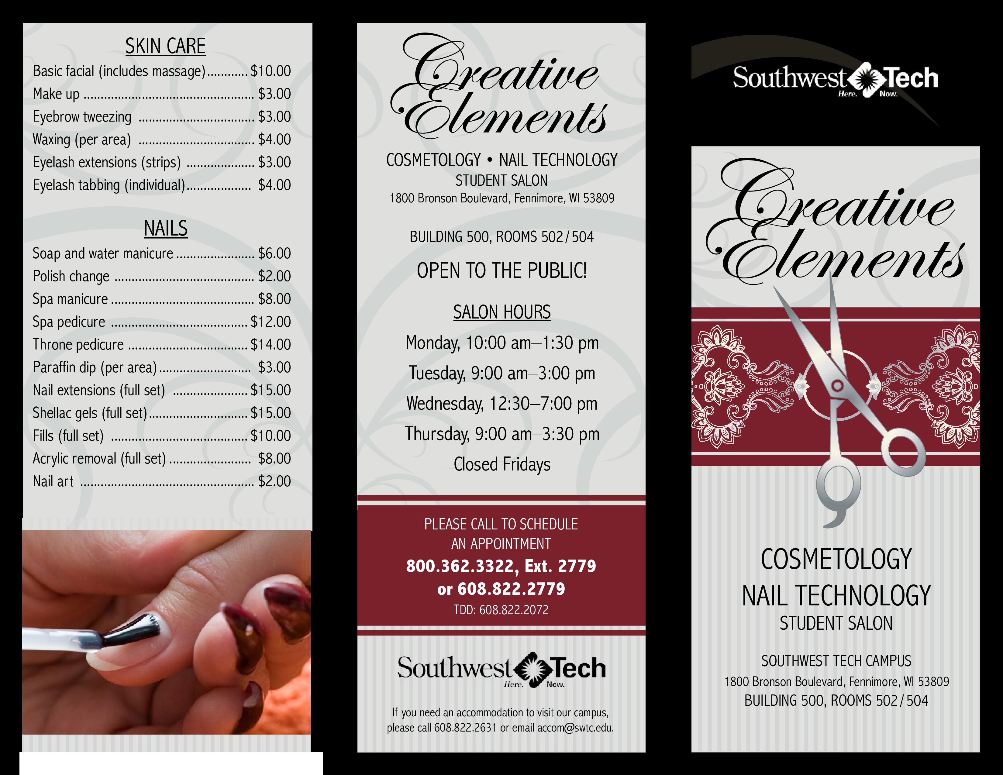 Salon Price List Template Creative Elements Salon Price List
