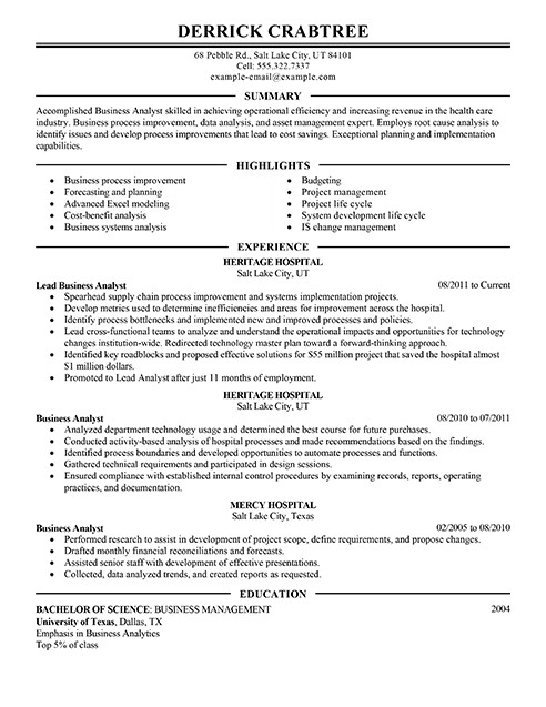 Sample Business Analyst Resume Amazing Business Resume Examples to Get You Hired