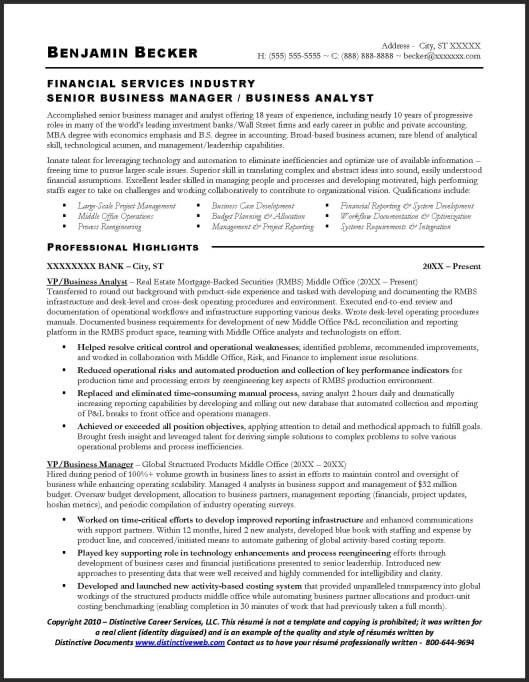 Sample Business Analyst Resume Resume Sample Business Analyst