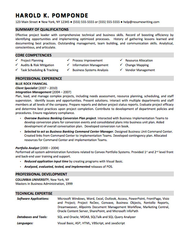 Sample Business Analyst Resume Sample Resumes Resumewriting