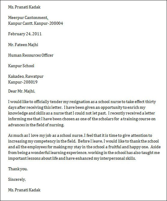 Sample Resignation Letter Nurse 9 Nursing Resignation Letters Doc Pdf