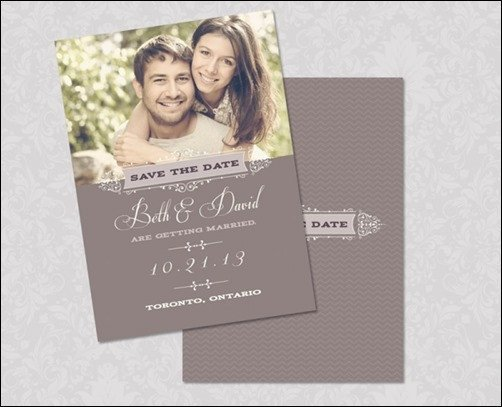 30 Beautiful Save the Date Templates for Wedding