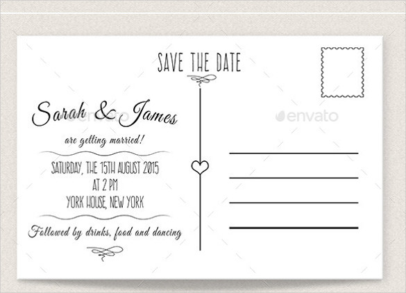 Save the Date Postcard Templates 22 Save the Date Postcard Templates – Free Sample