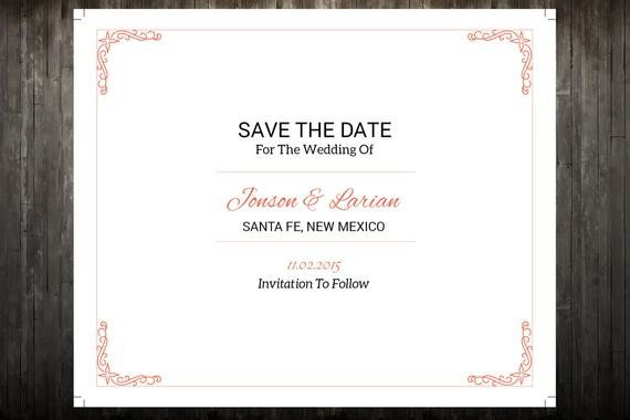 Save the Date Postcard Templates Sale Save the Date Template Wedding Save the Date Postcard