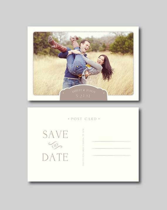 Save the Date Postcard Templates Save the Date Postcard Graphy Template by