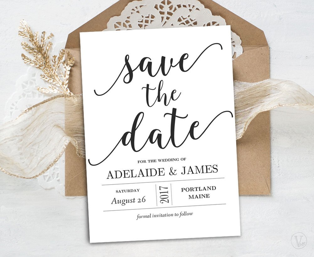 Save the Date Postcard Templates Save the Date Template Printable Save the Date Card Instant