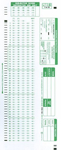 Scantron Item 882 E 100 Question patible Testing Forms
