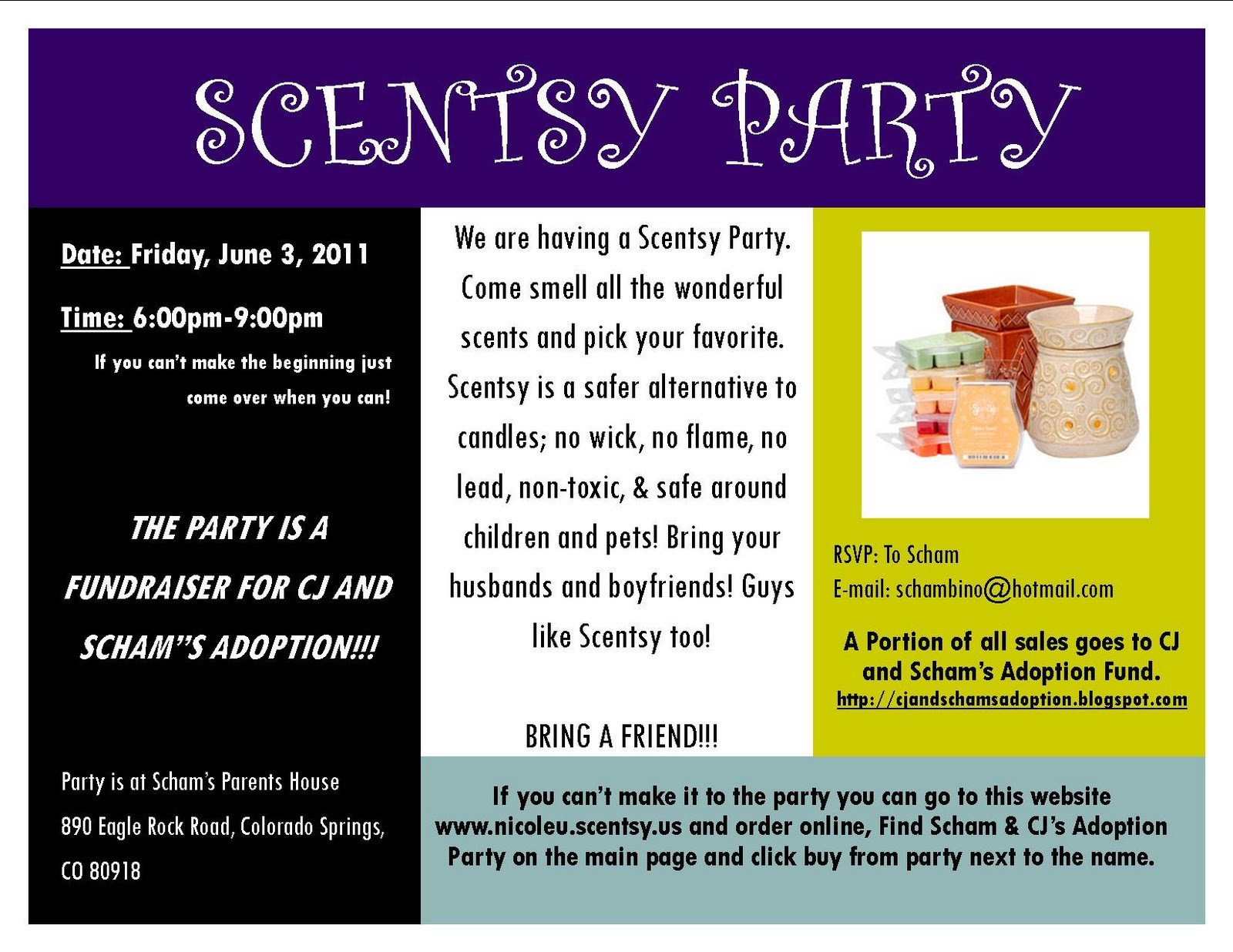 Scentsy Party Invitation Template Cj & Scham S Adoption Journey New Scentsy Fundraiser