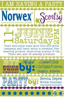 Scentsy Party Invitation Template norwex Invitation Template