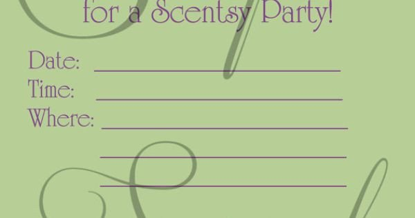 Scentsy Party Invitation Template Scentsy Consultant Fill In Party Invitation Custom