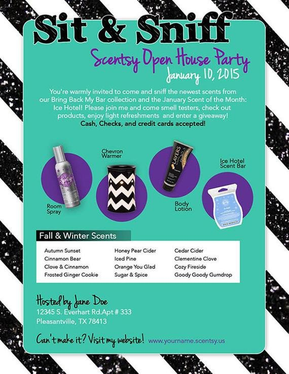 Scentsy Party Invitation Template Scentsy Party Invitation Purple & Green by