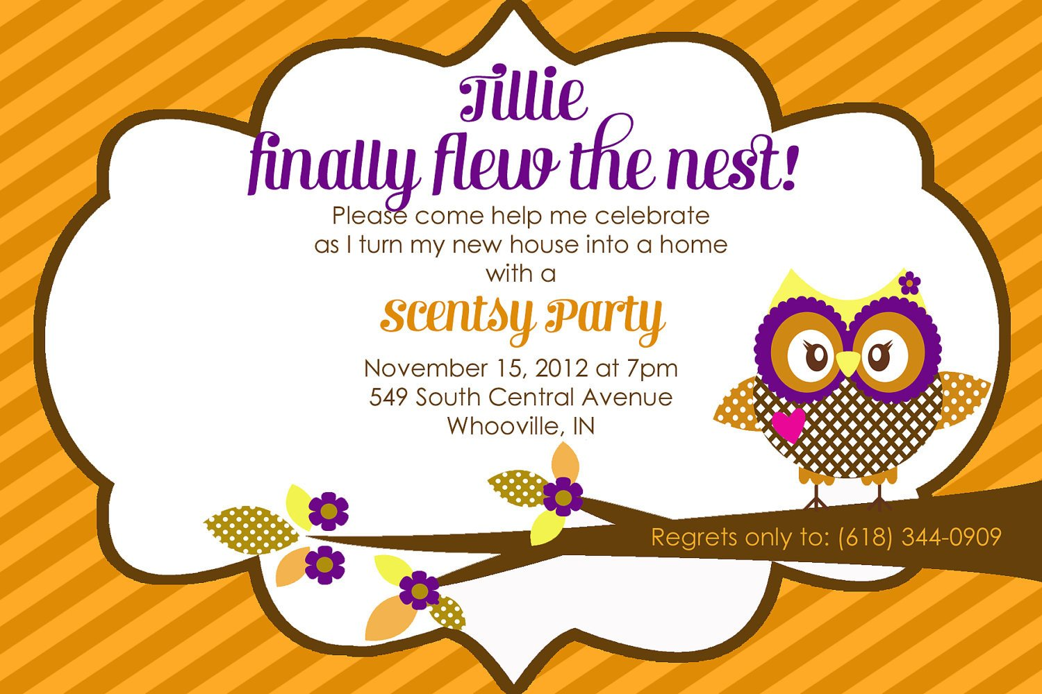 Scentsy Party Invitation Template Scentsy Party Invitation Wording