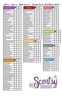 Scentsy Wish List My Scentsy Wish List so Guests Can Fill them Out and Not