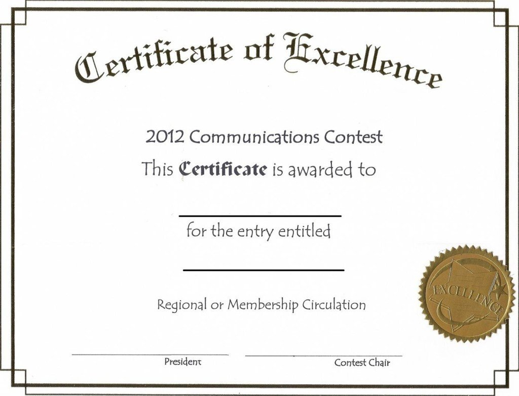 Scholarship Certificate Template Free Free Editable Certificate Of Excellence Template Example