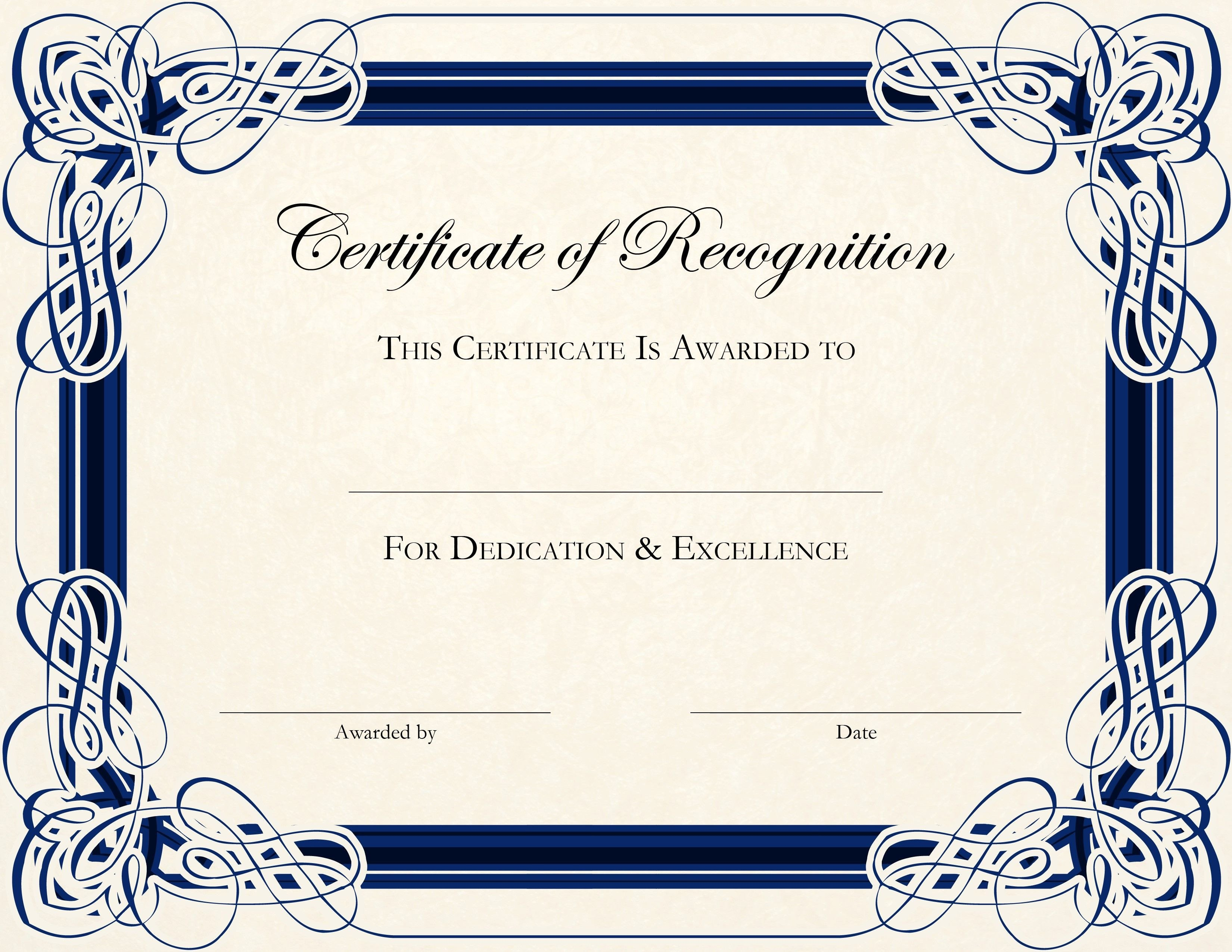 Scholarship Certificate Template Free Free Printable Certificate Templates for Teachers