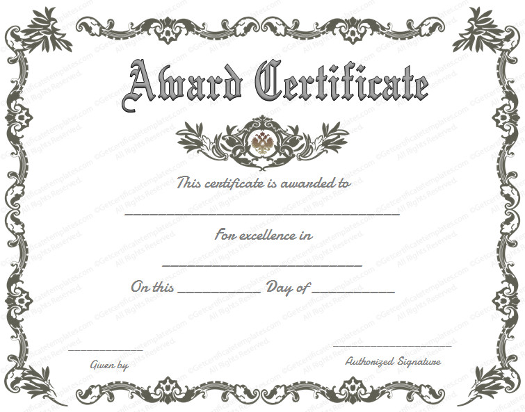 Scholarship Certificate Template Free Royal Award Certificate Template Get Certificate Templates