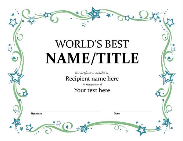 Scholarship Certificate Template Free World S Best Award Certificate