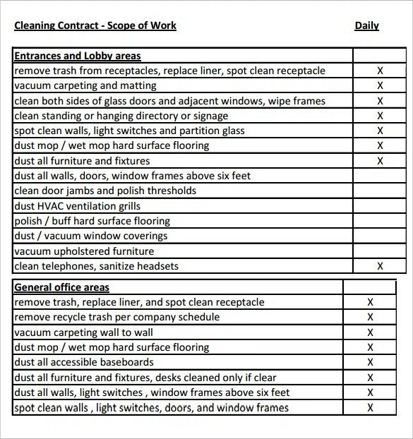 Scope Of Work Template Excel Scope Of Work Template 36 Free Word Pdf Documents