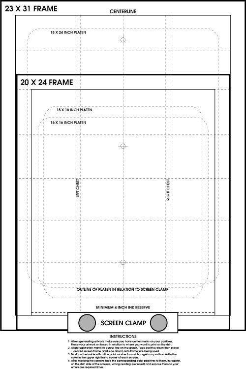 Screen Printing Pre Registration Template Poster Register