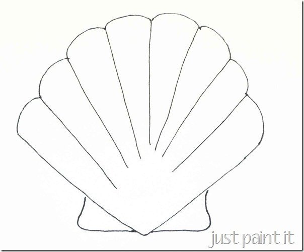 Seashell and Starfish Pattern Printables Just Paint It Blog