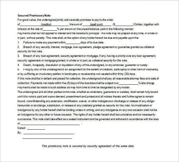 35 Promissory Note Templates DOC PDF
