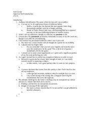 Self Intro Speech Outline Self Introduction Speech Outline Josh Levine Speech Of