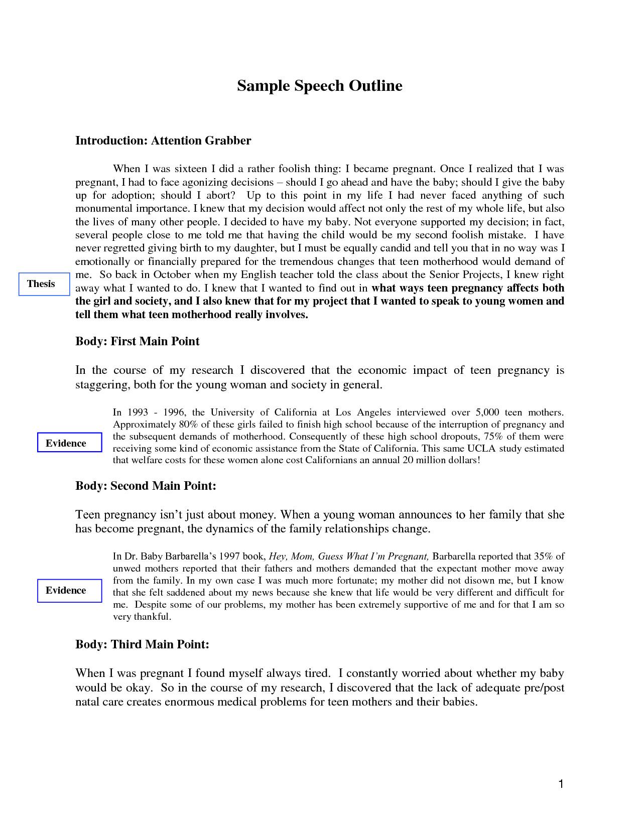 Self Introduction Speech Outline Sample Self Introduction Speech Outline